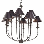 Jasper Chandelier - Old Bronze / Black