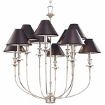 Jasper Chandelier - Polished Nickel / Black