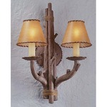 Cheyenne Wall Sconce - Hickory / Faux Leather