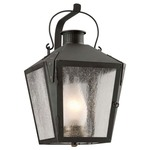 Nantucket Outdoor Wall Sconce - Charred Iron / Clear Seeded
