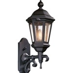 Verona Outdoor Wall Sconce - Antique Bronze / Clear Seeded