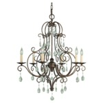 Chateau Chandelier - Mocha Bronze / Crystal
