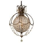 Bellini Pendant - Oxidized Bronze / Hand Polished and Antique Quartz