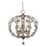 Leila Chandelier - Burnished Silver / Crystal