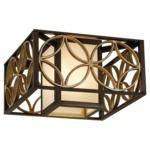 Remy Ceiling Light Fixture - Heritage Bronze / Bronze Organza