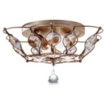 Leila Ceiling Light Fixture - Burnished Silver / Crystal
