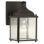 Terrace Outdoor OL4000 Wall Sconce - Oil Rubbed Bronze / Clear Seeded