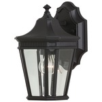 Cotswold Lane Outdoor Wall Light - Black / Clear Beveled