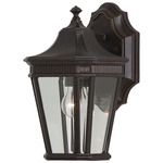 Cotswold Lane Outdoor Wall Light - Grecian Bronze / Clear Beveled