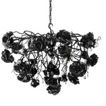 Love You Love You Not Chandelier Round - Black /