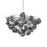 Love You Love You Not Chandelier Round - Nickel /