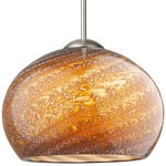 Nautilus LED Pendant - Satin Nickel / Mocha