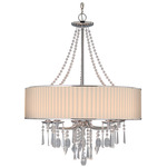 Echelon 3 Light Chandelier - Chrome / Bridal Veil