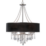 Echelon 3 Light Chandelier - Chrome / Tuxedo