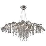 Autumn Twilight 9903 Chandelier - Mystic Silver / Crystal