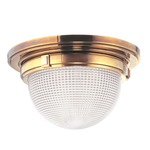 Winfield Ceiling Light Fixture - Aged Brass / Clear
