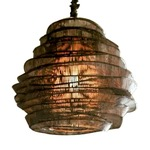 Bamboo Cloud Tall Chandelier -  / Espresso