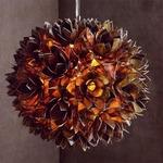Lotus Flower Chandelier - Nickel / Smoke