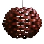 Woven Bamboo Sphere Pendant