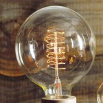 Filament Edison LB10 Globe 60W Medium Base 120V Bulb -  /