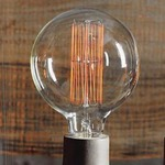 Filament Edison LB11 Globe 60W Medium Base 120V Bulb -  /