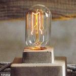 Filament Edison LB3 Tube 60W Medium Base 120V Bulb -  /