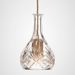 Bell Decanterlight - Brushed Brass / Crystal