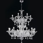 Two Tier 1377 Chandelier - Chrome / Crystal