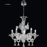 Mini 1377 Chandelier - Chrome / Crystal