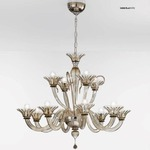 Two Tier 1460 Chandelier - Chrome / Smoked