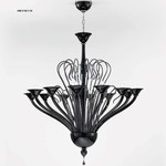 One Tier 1461 Chandelier - Chrome / Black