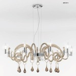 One Tier 2001 Chandelier - Chrome / Smoked
