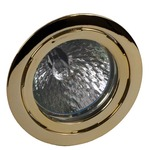 823.48 10W Recessed Puck Light Clear Lens - Brass /
