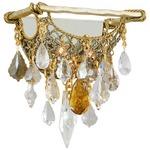 Barcelona Wall Sconce - Gold Leaf / Crystal