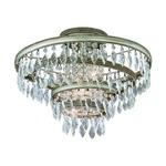 Diva Semi Flush Ceiling - Silver Leaf / Crystal