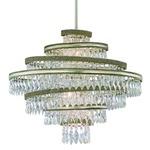 Diva Pendant - Silver Leaf / Crystal