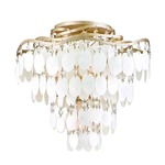 Dolce Semi Flush Ceiling - Champagne Leaf / Capiz Shell / Crystal