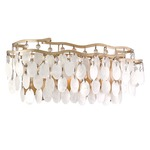 Dolce 3-Light Bath Bar - Champagne Leaf / Capiz Shell / Crystal
