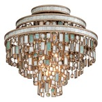 Dolcetti Semi Flush Ceiling - Silver / Shell / Crystal / Stainless Steel