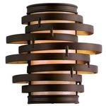 Vertigo Small Wall Light - Bronze/ Caramel Ice /