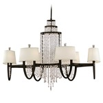 Viceroy Oval Chandelier - Royal Bronze / White