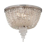 Vixen Semi-Flush Mount - Polished Nickel / Crystal