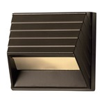 Square Deck Outdoor Wall Sconce  - Bronze / Frosted