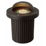 Low Voltage Shielded Well Light - Bronze / Clear
