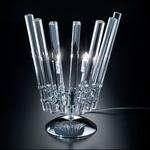 Circle Table Lamp - Chrome / Crystal