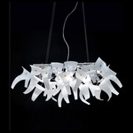 Diva 6 Light Suspension - Chrome / White