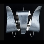 Diva Wall Sconce - Chrome / Silver Leaf