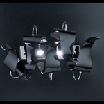 Diva Linear Wall Sconce - Chrome / Silver Leaf
