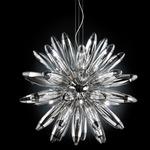 Flo 10 Light Suspension - Chrome / Crystal