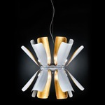 Tropic Up/Downlight Suspension - White / Gold Leaf